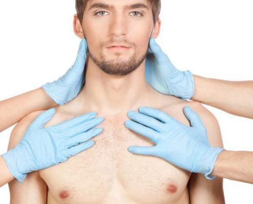 דוגמן לאחר ניתוח הקטנת חזה